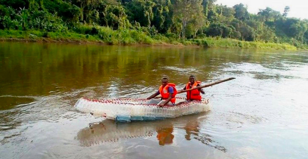 Student From Cameroon Is Making Boats Out of Recycled Plastic Bottles