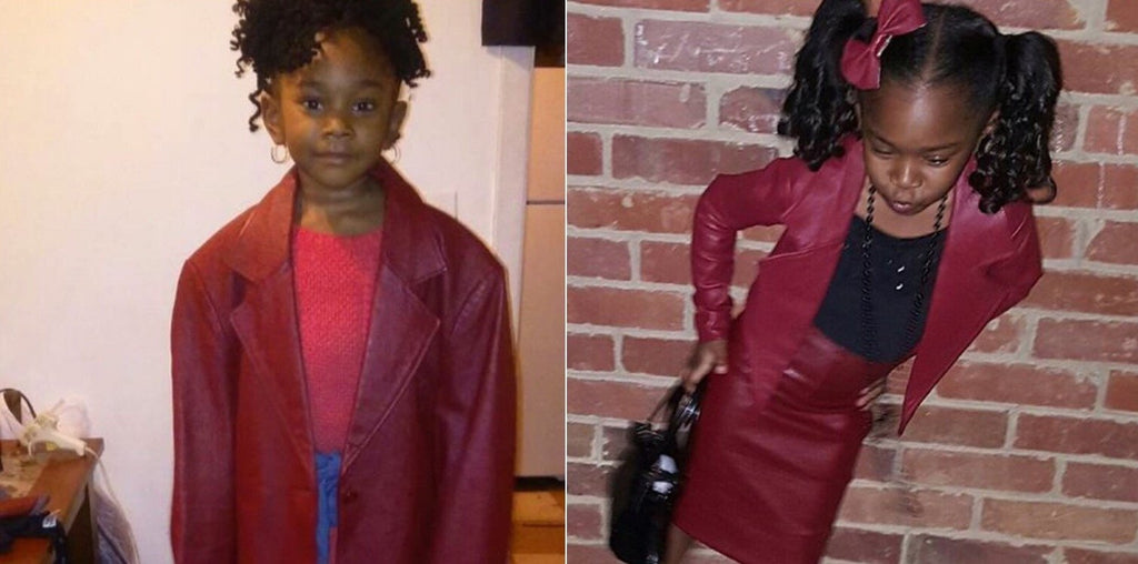This Little Girl's Grandmother Made Her A Complete Outfit Out Of A Leather Coat