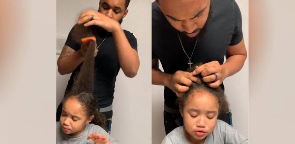 San Diego #GirlDad Enlists The Help of His Mother To Learn How To Braid Daughter's Hair In Viral Video
