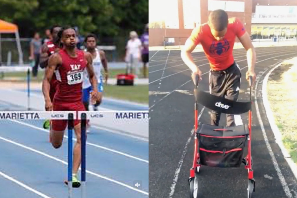 Watch: Paralyzed Teen Track Star Gets Out of His Wheelchair and Back on the Track