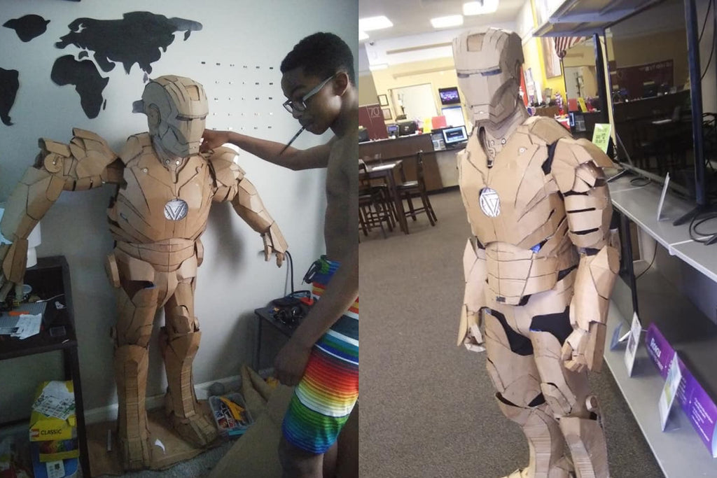 This 15-Year-Old Made a Wearable Iron Man Suit Using Cardboard and Hot Glue