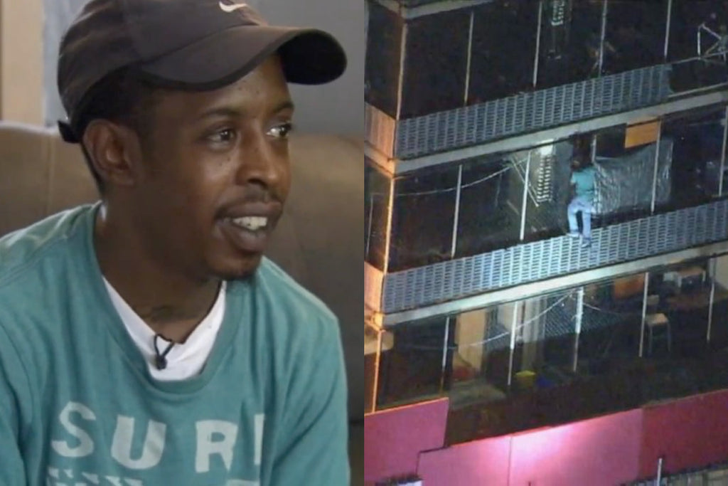 Man Climbs 15 Stories to Save Bedridden Mother From Apartment Fire