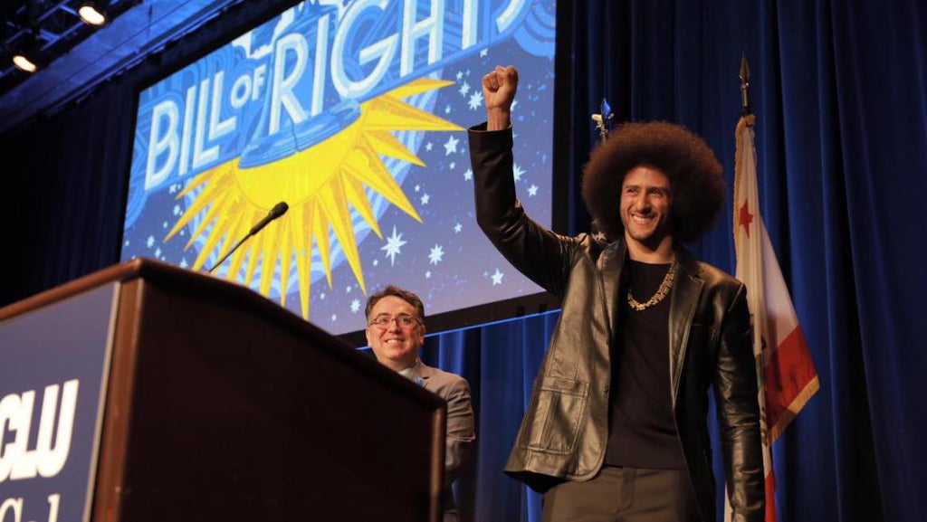 Colin Kaepernick Accepts Courageous Advocate Award From The American Civil Liberties Union