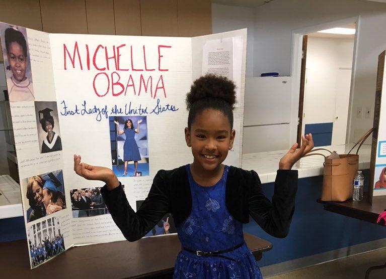 Here's How This Little Girl's Third Grade Open House Project Just Made Michelle Obama's Day