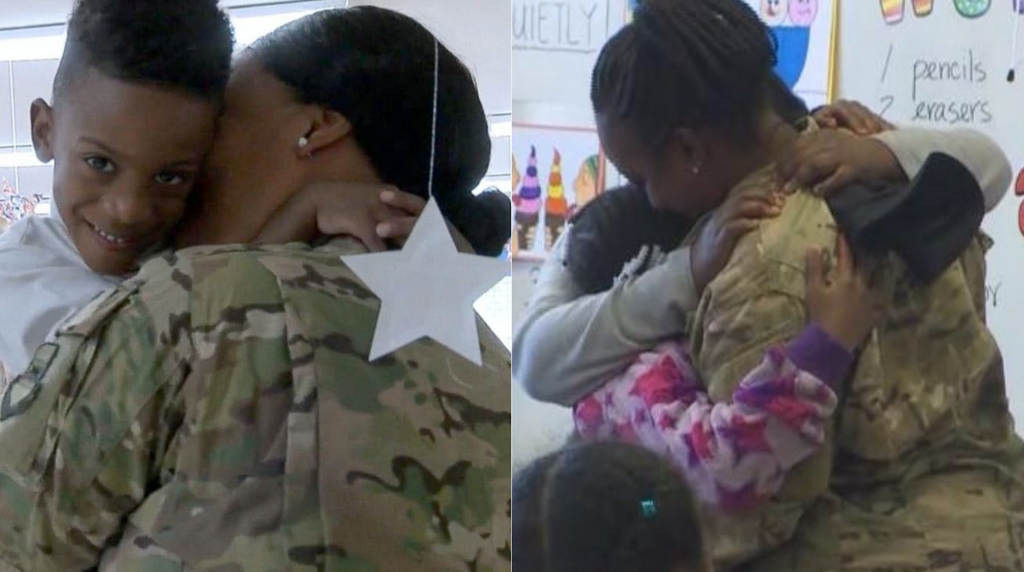 WATCH: These Military Moms Surprising Their Kids At School After Returning From Deployment Is The Best Thing Ever