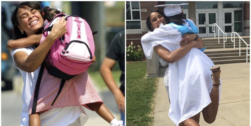 High School Grad Recreates Kindergarten Photo With Mom- The Result Is Priceless