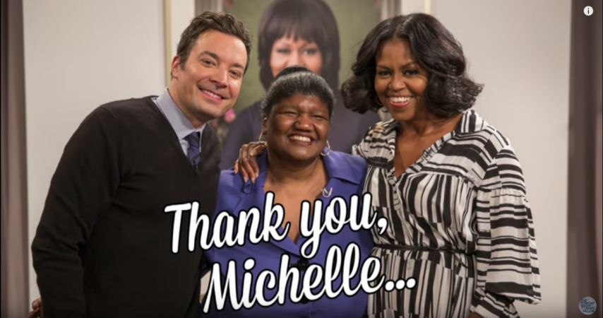 Grab A Tissue and Watch What Happens When Michelle Obama Surprises Guests on The Tonight Show!