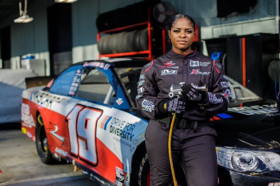 Brehanna Daniels Makes History As The First Black Woman Hired As A Member Of A NASCAR Pit Crew