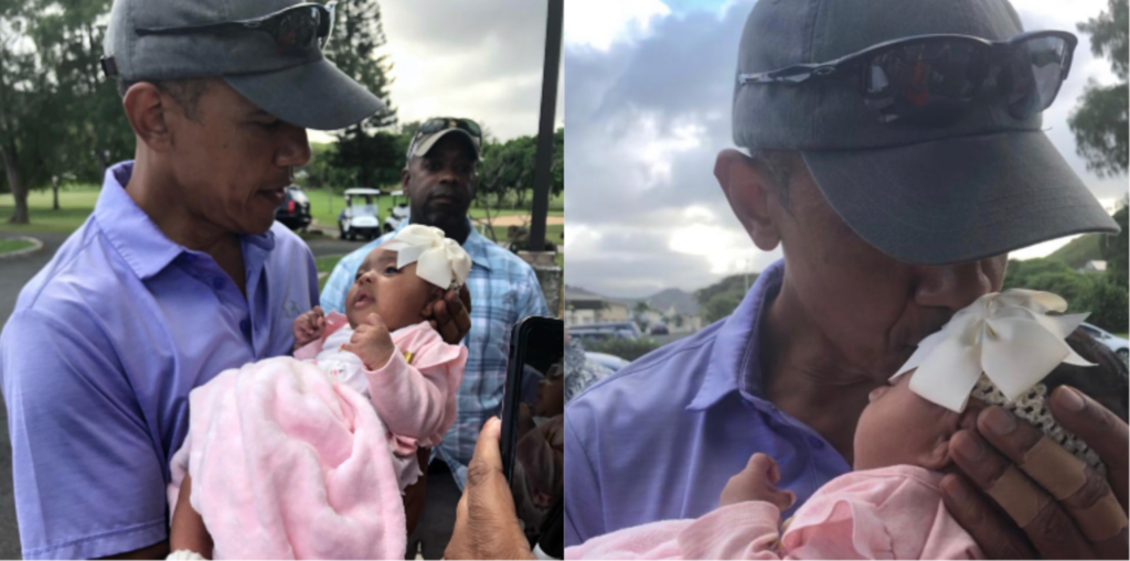 Video: President Obama Surprises Crowd When He Greets and Kisses 7-Week Baby Girl
