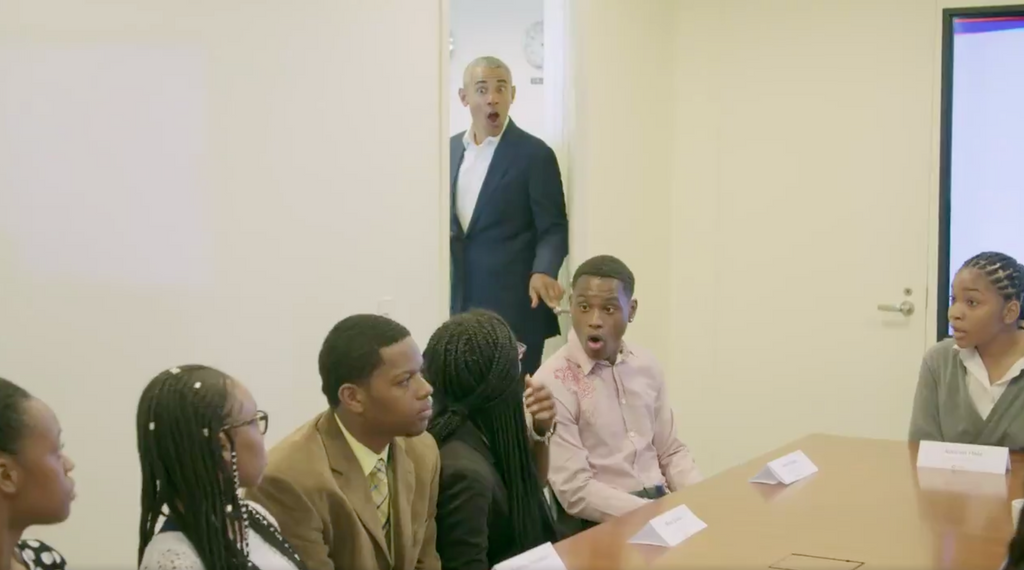 Obama Surprises Recent High School Graduates in Youth Jobs Corps