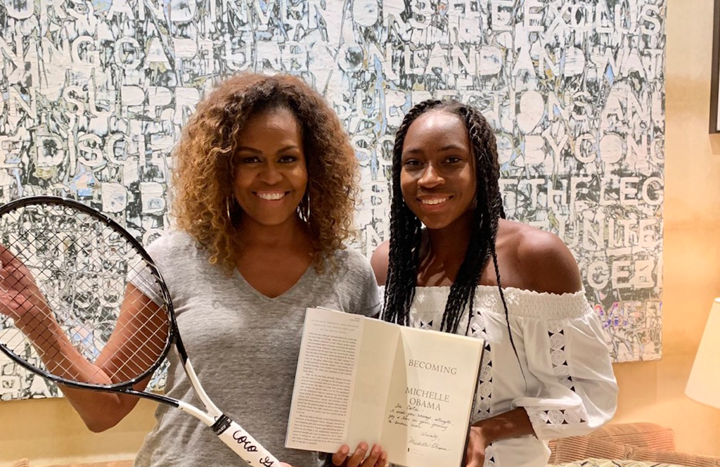 Michelle Obama and Tennis Phenom Coco Gauff Meet