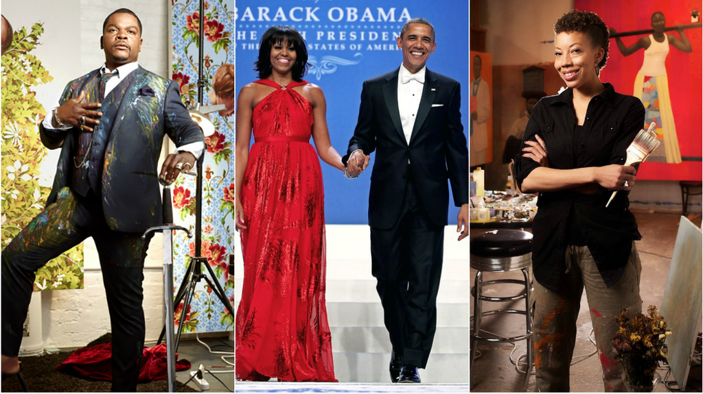 Black Excellence: The Obamas Selected Kehinde Wiley And Amy Sherald To Paint Their Official Portraits
