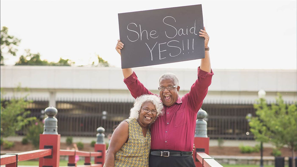 The Heartwarming Love Story Behind This Senior Couple's Viral Engagement Photo
