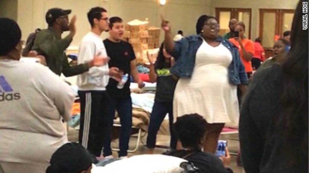 Watch: This Impromptu Gospel Performance At A Texas Shelter Is The Most Inspirational Thing You'll See All Week
