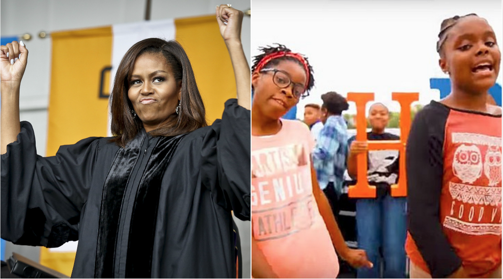Michelle Obama Loves This Video Of Two Young Girls Rapping About Education As Much As We Do