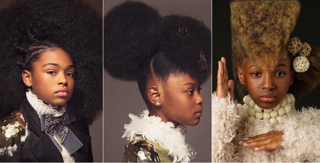 Husband And Wife Photography Team Creates Baroque-Inspired Portraits To Celebrate The Beauty of Black Girls' Natural Hair