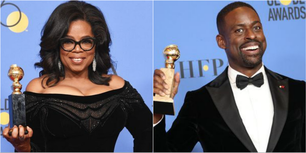 Black Excellence: Oprah Winfrey And Sterling K. Brown Make Golden Globe History