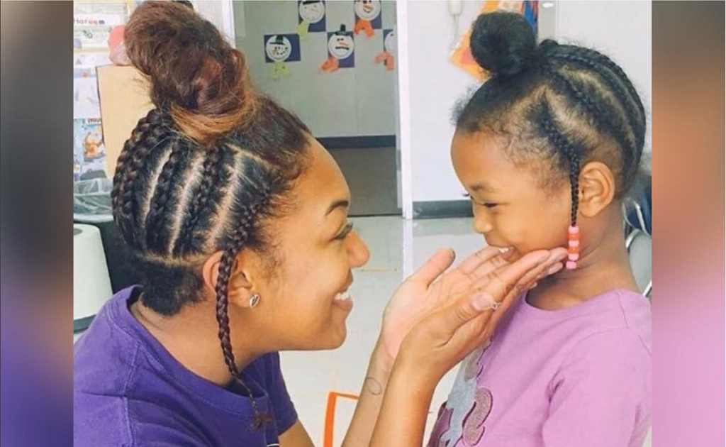 This Teacher Replicated Her Student's Natural Hairstyle To Empower Her To Embrace Her Authentic Self