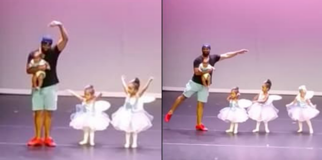 This Dad Did The Sweetest Thing When His Daughter Got Stage Fright During Her Ballet Performance