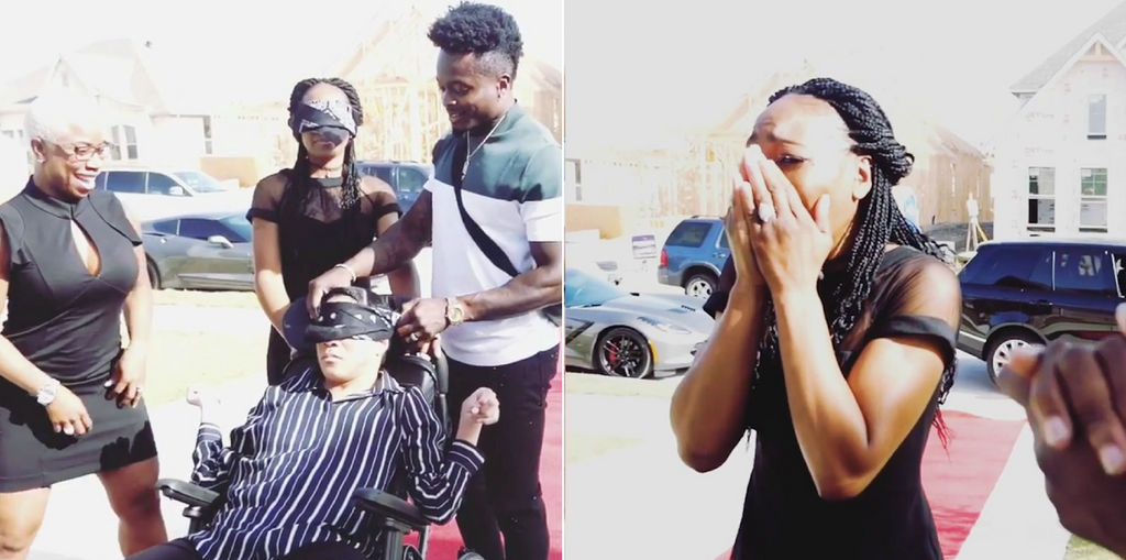 All The Feels: NFL Player Marquise Goodwin Surprises His Mom And Sister With A New House