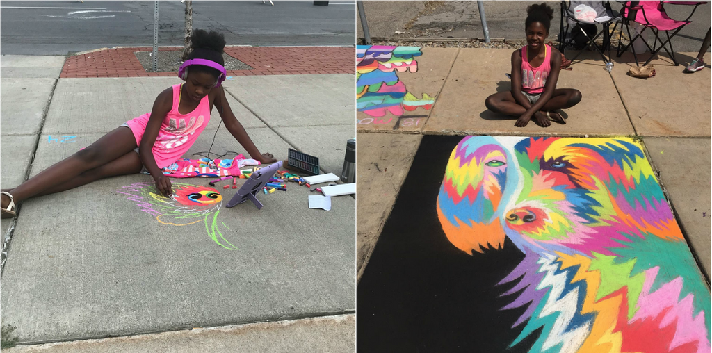This 11-Year-Old Created A Sidewalk Chalk Masterpiece That Will Leave You Saying 'Wow'