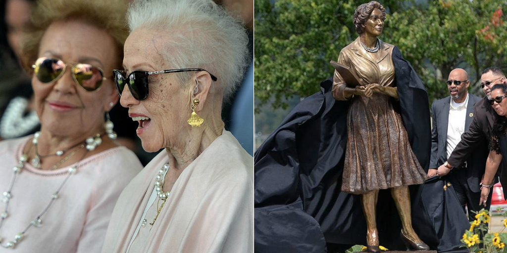 NASA Pioneer Katherine Johnson Attends Unveiling Ceremony Of Her Own Statue At Alma Mater