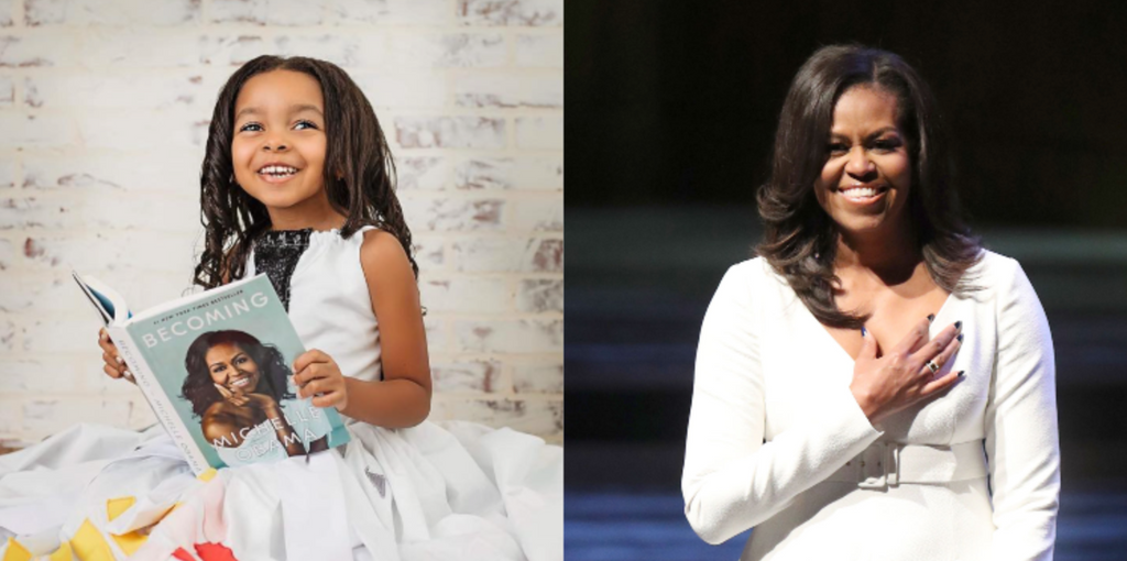 Little Girl Shares Same Birthday With Michelle Obama, Celebrates By Paying Homage To Our Forever First Lady