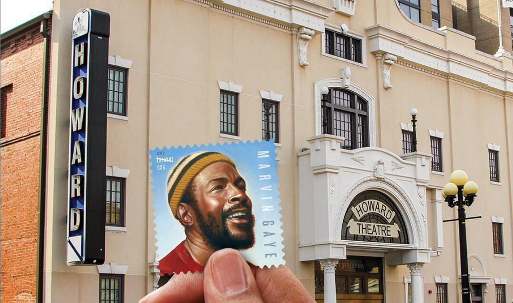 U.S. Postal Service Shares a Photo of New Marvin Gaye Stamp in Front of the Howard Theatre