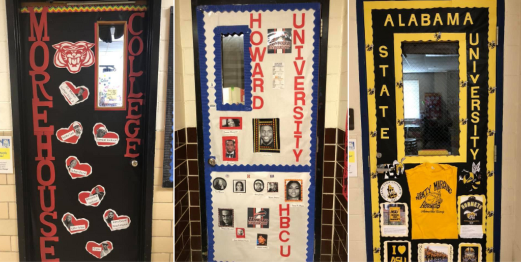 Teachers Represent HBCUs With Door Decorations That Teach Their Students About Historically Black Colleges and Universities