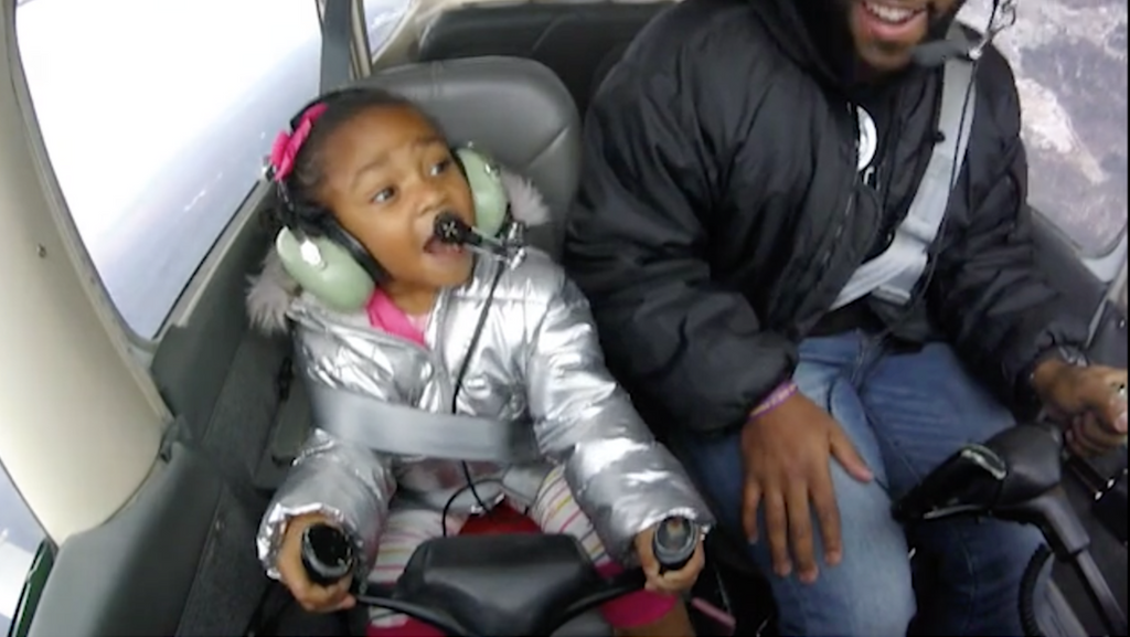 Video: Little Girl Goes on First Flight with a Pilot That Looks Like Her and It's Just as Amazing as You'd Imagine