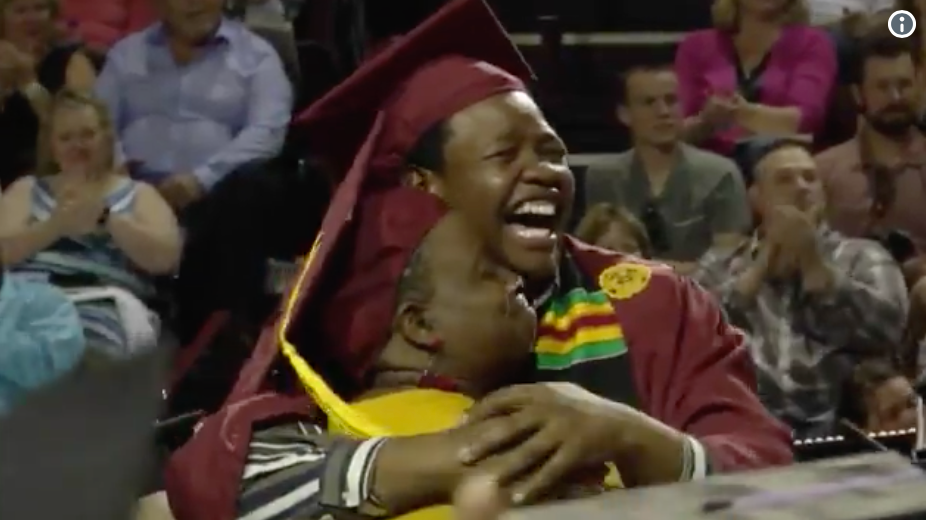 Mom Surprised With Degree at Son's Commencement After Attending His Graduation Instead of Her Own