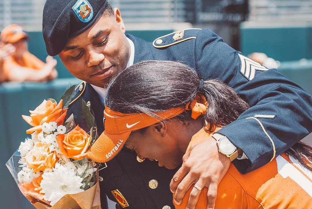 College Athlete Surprised on Senior Day by Army Brother She Hadn't Seen in Three Years
