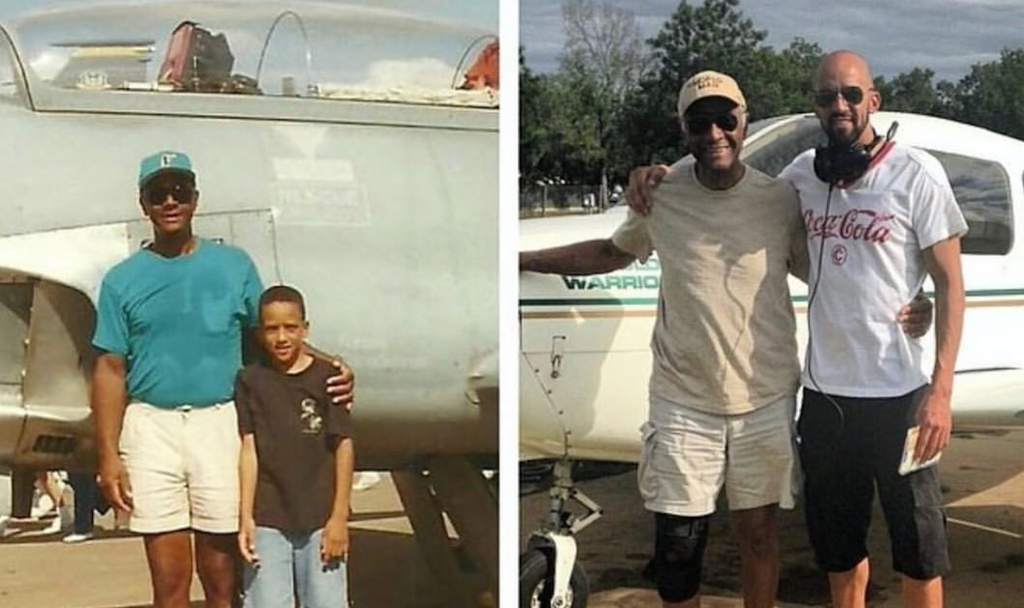 Son Takes Dad on First Official Flight as a Pilot After Following in His Footsteps