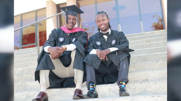 Father and Son Graduating from the Same College Together