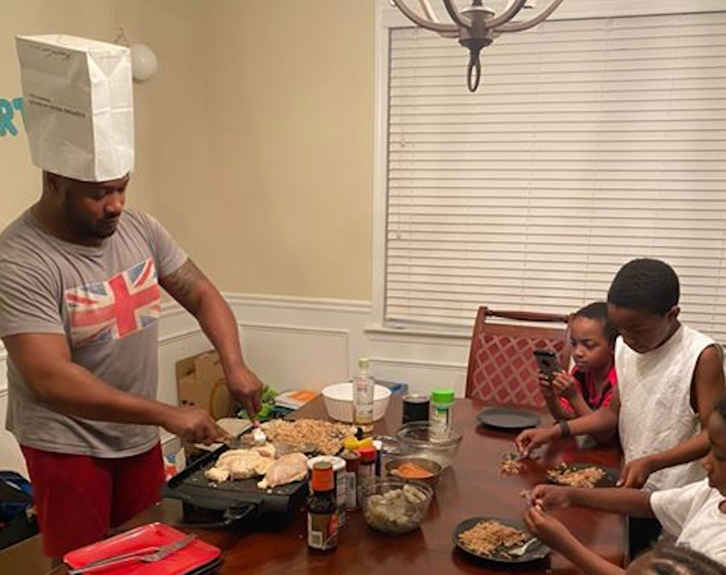 This Dad Turned His Home Into a Hibachi Restaurant To Celebrate His Son's Birthday