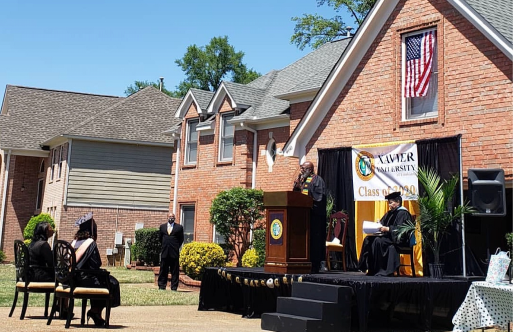 Tennessee Dad Creates Commencement Ceremony For His Daughter In Their Driveway