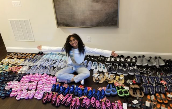 17-Year-Old Raises Money to Donate Over 100 New Shoes to Hurricane Dorian Survivors