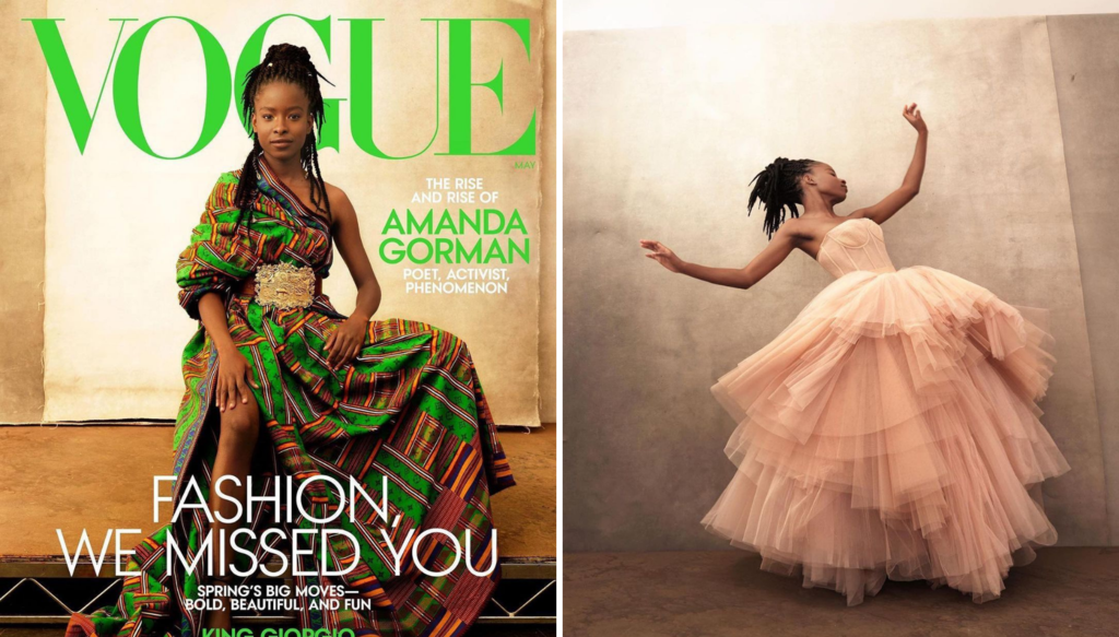 Amanda Gorman Stuns As The First Poet To Be On The Cover Of Vogue Magazine