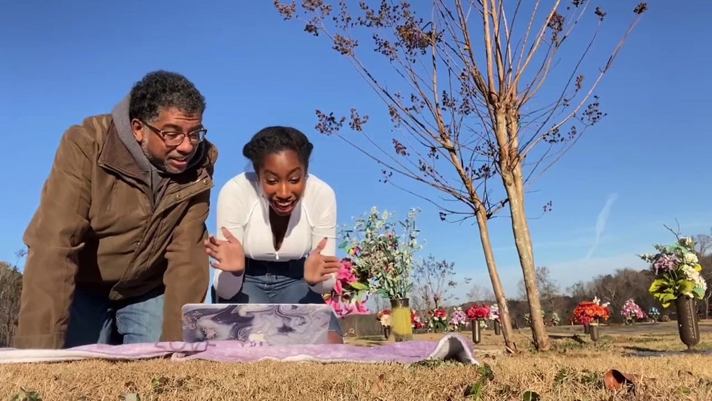 High School Senior Waits To Open College Acceptance Letter At Mom's Grave