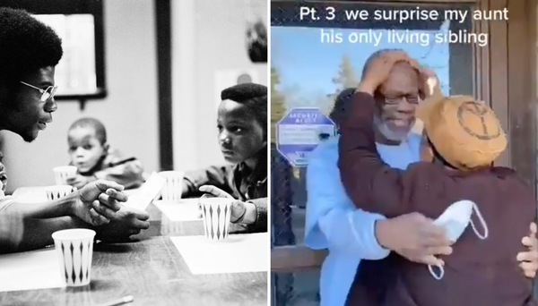 An Original Black Panther Is Released From Prison After 45 Years Has Emotional Reunion With His Family