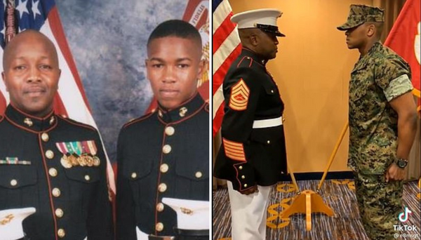This Marine Corps Master Sergeant Gave His Son An Emotional First Salute In This Heartwarming Viral Video