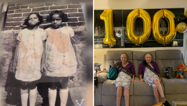 These Twins Just Celebrated Their 100th Birthday With A Special Socially Distanced Celebration