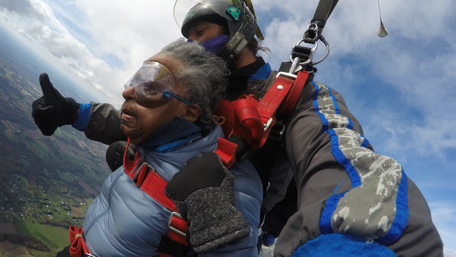 This 102-Year-Old WWII Veteran Just Crossed Skydiving Off Her Bucket List