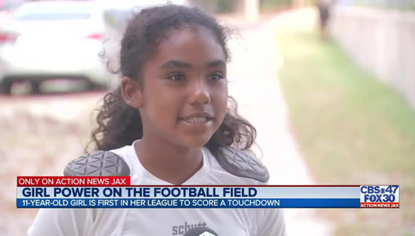11-Year-Old Jacksonville Football Player Becomes The First Girl To Score A Touchdown In Her League