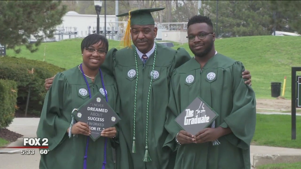 Father, Son and Daughter Graduate from Eastern Michigan University Together