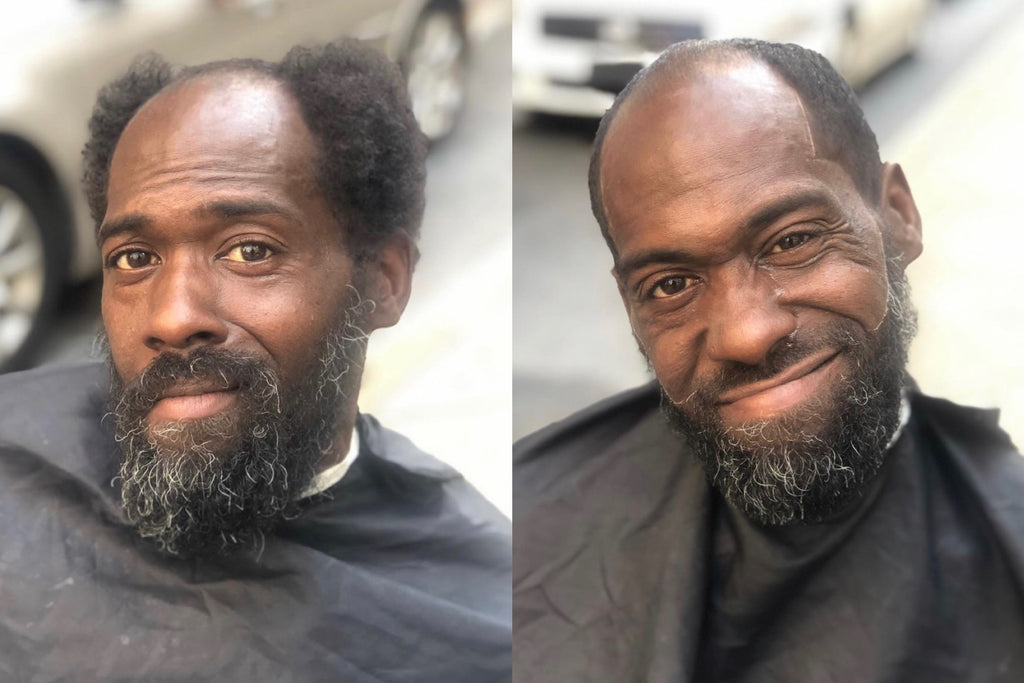 Barber's Haircuts for Homeless Initiative Brings Participant to Tears