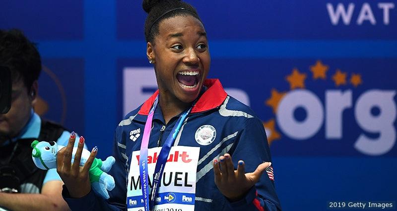 World Champion Simone Manuel Wins Gold Again and Sets a New Record