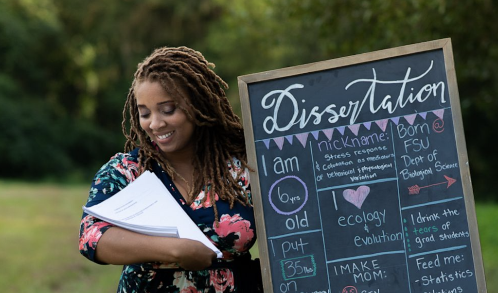 Ph.D Student Does Maternity and Newborn Photoshoot To Celebrate Dissertation