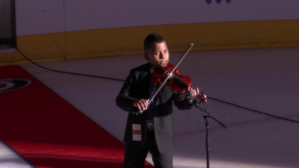 After Beating Leukemia, This 11-Year-Old Violinist Played The National Anthem At Hurricanes Game