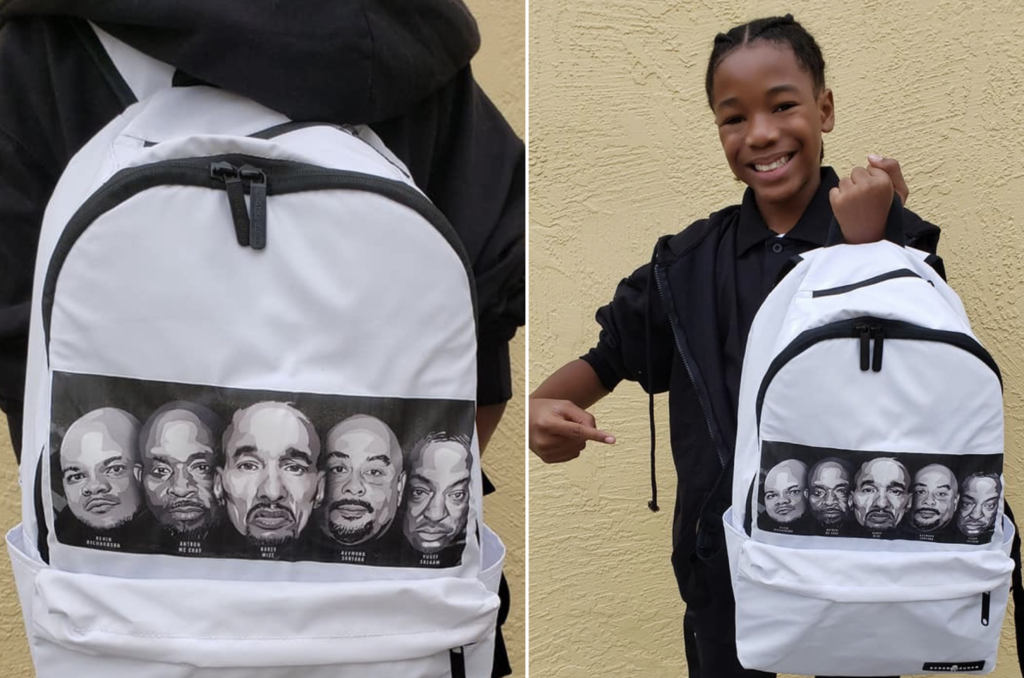 13-Year-Old Paints Backpack in Honor of Exonerated 5 to Raise Awareness in School